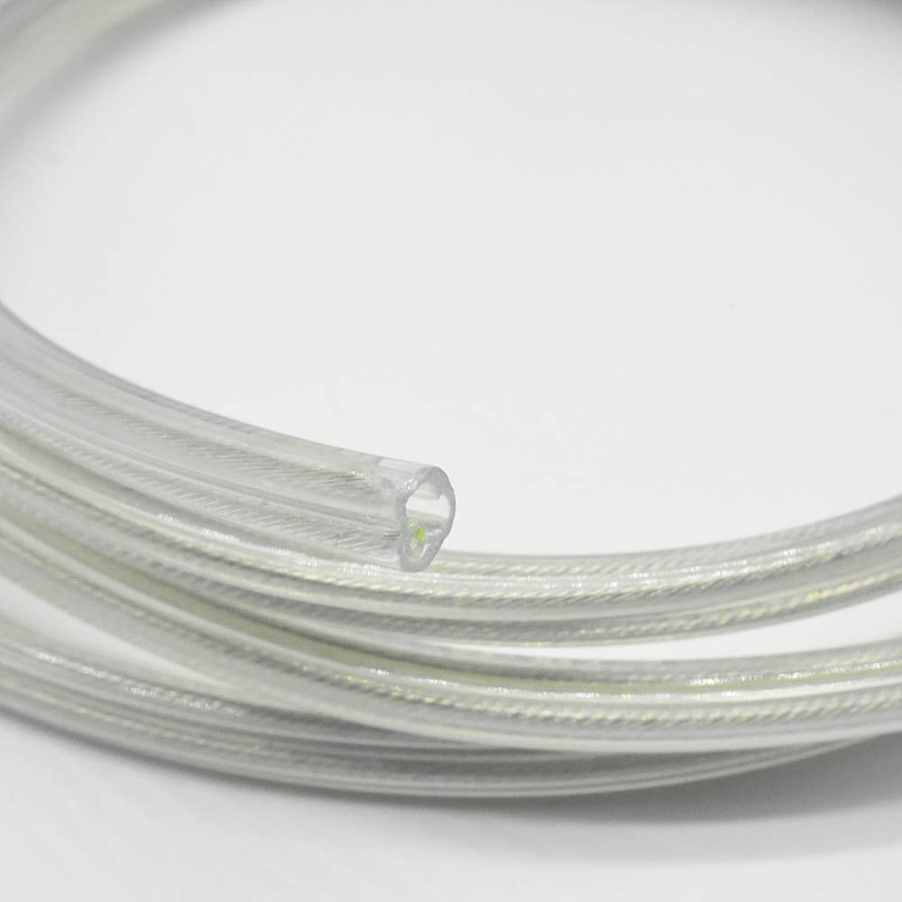 Kabel 3 x 0,75mm/² transparent 3 Meter PVC//PVC isolierte Leitung Leuchtenkabel Lampenkabel Strom-Kabel 3G