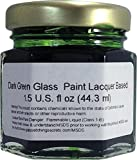 (Dark Green) Glass Paint Lacquer Stain, Permanent 1.5-Ounce Professional Stained Glass Like Paint