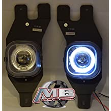 MBA Premier 01-04 Ford F250 Superduty Halo Projector Fog Lights Lamp Kit - Clear