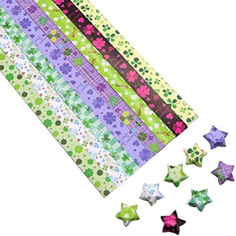 1300枚のカラフルな折り紙の星紙DIYのラッキースター紙片 #13