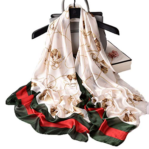 Silk Scarf Floral Long Lightweight Womens Fashion Scarves for any Occasion or Season (Mens Floral Scarf)