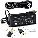 Tinkon AC Adapter Supply 90W 20V Power Charger for Lenovo ThinkPad X1 Carbon Chromebook N20 N20p T440 T540p Edge G500 G505 G510 Power Cord