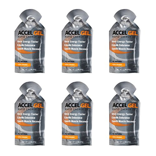 Accel Gel Rapid Energy Gel - Citrus Orange - 6 Pack (6 x 1.3oz Packs)