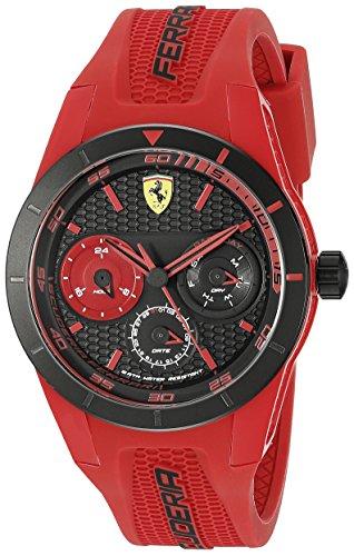 Ferrari Men's 0830258 REDREV T Analog Display Quartz Red Watch Movado Solid Wrist Watch