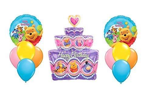 ''Happy Birthday'' Winnie The Pooh Cake Balloon Bouquet