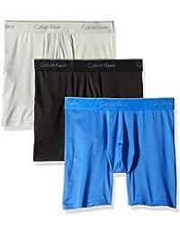Men's Underwear Microfiber Stretch 3 Pack Boxer Brief,