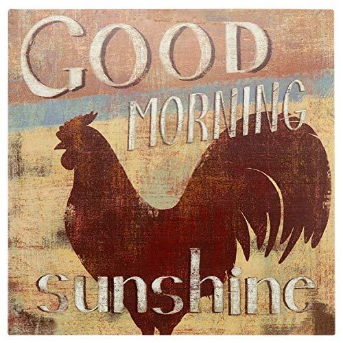 Barnyard Designs 'Good Morning Sunshine' Rooster Retro Vintage Tin Bar Sign Country Home Decor 11