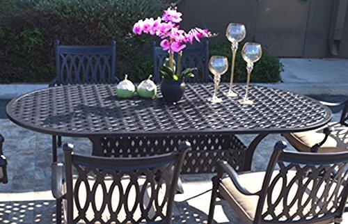Patio 7 Piece Dining Set 4 Grand Tuscany Chairs 2 Swivel