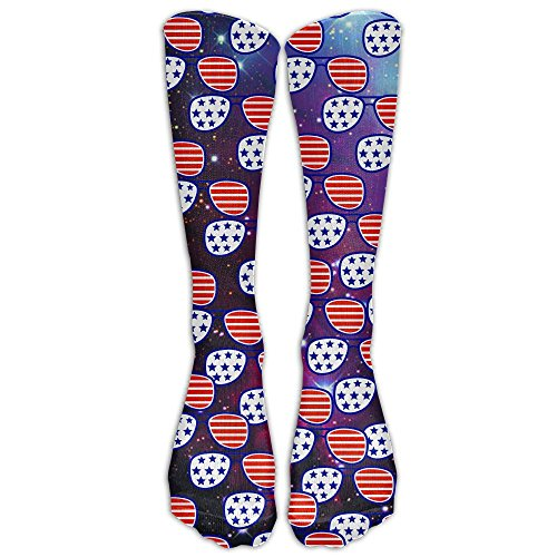 Merica Colorful Sunglasses Logo Unisex Funny Casual Athletic Warm Winter Crew Socks For Women For - Your Sunglasses Logo On