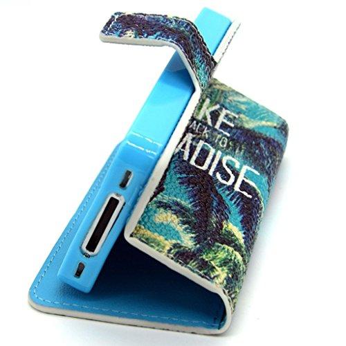 2015New Fashion Étui portefeuille pour Apple iPhone 5C, yaobai élégant [Fleur] magnétique en cuir PU Portefeuille avec fermeture [] Etui folio avec Support pour Sport Extérieur Coque de protection d