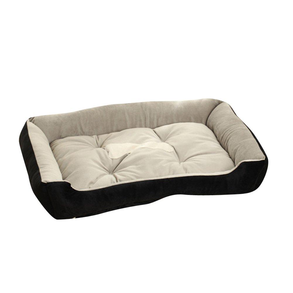 Super Cómodo Casa para Mascotas Cama para Perros Perro de Perrito Sofa Suave y Cálido Negro: Amazon.es: Productos para mascotas