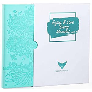 Deluxe Law of Attraction Life Planner - Academic planner to Increase Productivity & Happiness - Weekly Planner, Organizer & Gratitude Journal (Undated, Aqua Marine) + Box + BONUS Planner Stickers