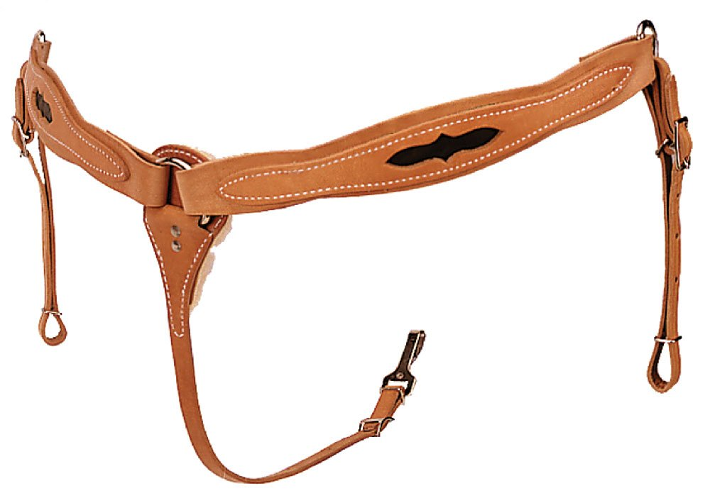 The Colorado Saddlery Brown Inlaid All Around Breast Collar