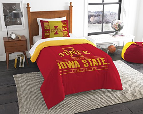 (The Northwest Company Officially Licensed NCAA Iowa State Cyclones Modern Take Twin Comforter and Sham )