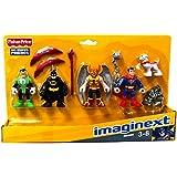 Fisher-Price Toy - Imaginext DC Comics Super Friends Heroes Figure Set - Batman - Superman - Hawkman