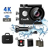 Action Camera,CrazyFire 4K WiFi 16MP Sport Cam,Underwater 30M Diving Camcorder Waterproof Camera with 170° Wide Angle,2.0 Inch LCD Screen,Portable Case,Remote Controller and 2 Batteries