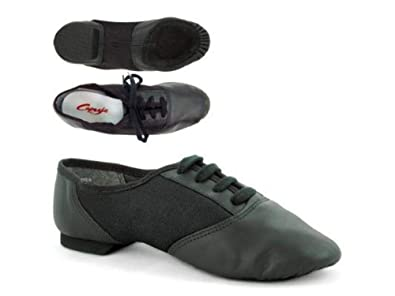 Capezio 458 Split Sole Jazz Shoe With Suede Sole - Black  Amazon.co ... 2416a2ee360