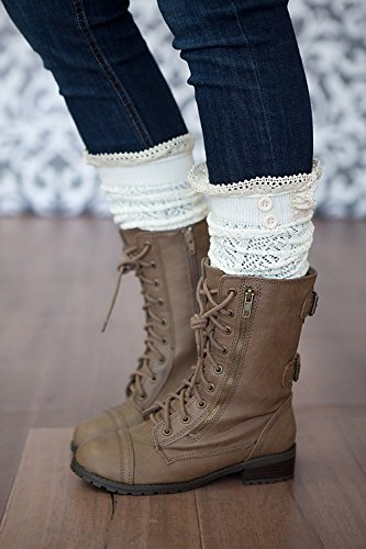 Button White Knee Womens Boot High Socks Trend American Lacey x8tIgAnw