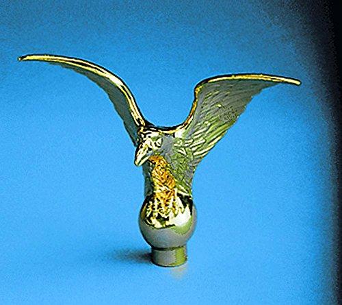Metal Flying Eagle Indoor Flag Pole Ornament - 5