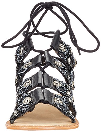 Vero Sandal Vmtyra Spartiates Moda Black Noir Femme Leather Z7rUZq