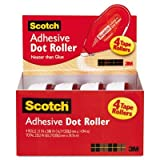 Adhesive Dot Roller Value Pack, 0.3 in x 49 ft., 4/PK, Sold as 4 Each