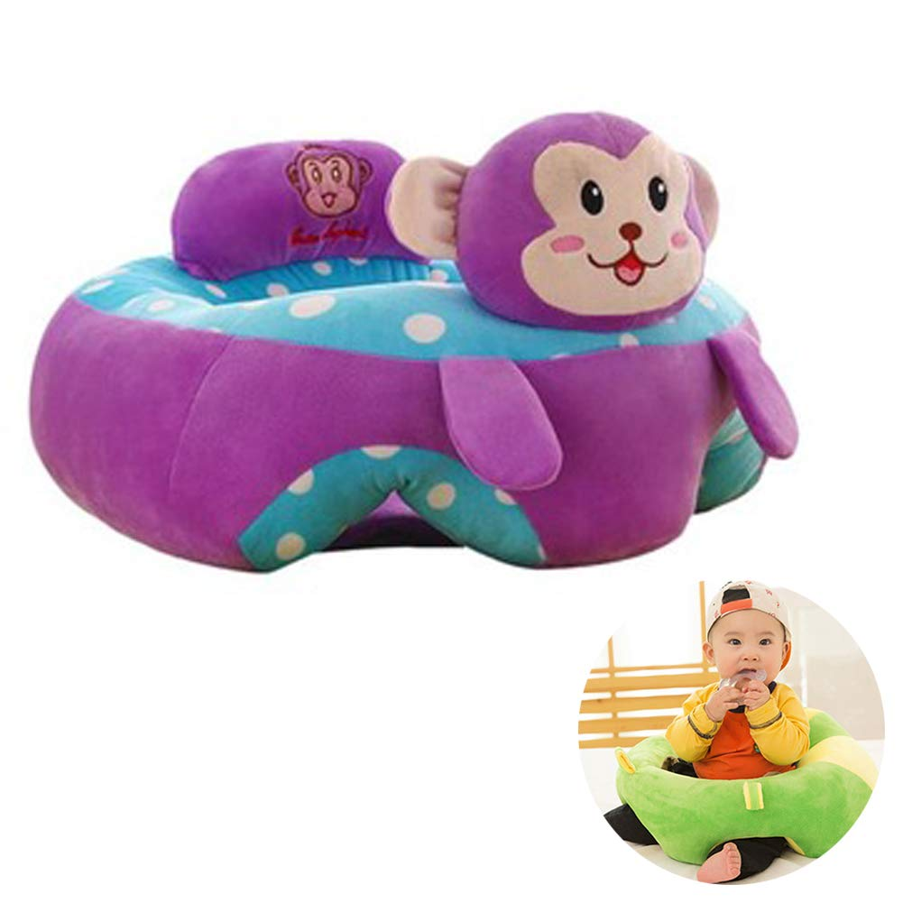 Baby Support Seat Siting Learning Soft Chair Cushion Sofa Plush Pillow Toys Animal Pillow Protector Cushion Sitting Sofa for Little Babys