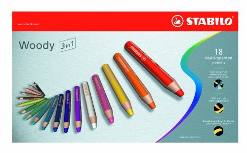 18-Color Set Stabilo/® Woody 3 in 1