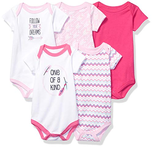 Hudson Baby Unisex Baby Cotton Bodysuits, One of a Kind 5 Pack, 6-9 Months (9M) from Hudson Baby