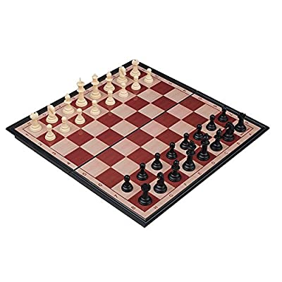 RUNNOW Magnet Chess Set Folding Chessboard 13 Inches Travel Table Family Game