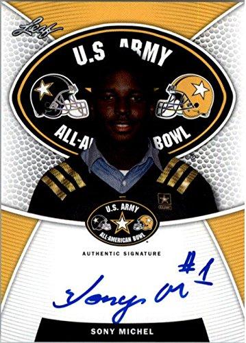 2014 SONY MICHEL Leaf US Army Autograph Rookie Auto RC GEORGIA from Leaf