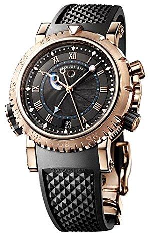 Breguet Breguet Marine Royal Negro Dial Goma Mens Reloj 5847BRZ25ZV