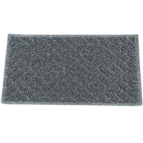ECO MATRIX Large Doormats Entrance Floor Mats Non-slip Dirt Trapper Rubber Door Mat Washable Carpet Rug Durable Patio Turf for Indoor Outdoor (75x43cm, Black&Grey)