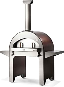 ALFA FX4PIZ-LRAM 4 Pizze Outdoor Stainless Steel Wood Fired Pizza Oven, Red