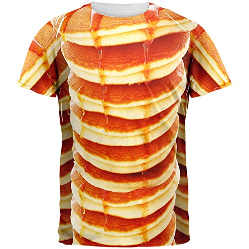 Halloween Pancakes and Syrup Breakfast Costume All Over Mens T Shirt Multi LG for $<!--$26.95-->