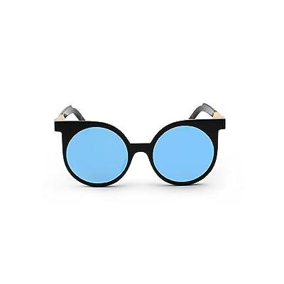 Alger Lunettes de soleil mode Vintage Style rond cadre polarisé UV400 unisexe conduite lunettes de voyage , F