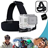 Xtech® Adjustable Head Strap Mount for GoPro HERO4 Hero 4 - GoPro HERO3 Hero 3 - GoPro Hero3+ - GoPro Hero2 - GoPro HD Motorsports HERO - GoPro Surf Hero - GoPro Hero Naked - GoPro Hero 960 - GoPro Hero HD 1080p - GoPro Hero2 Outdoor Edition and All GoPro HERO Cameras