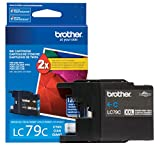 Brother Printer LC79C Super High Yield (XXL) Cyan Cartridge Ink - Retail Packaging
