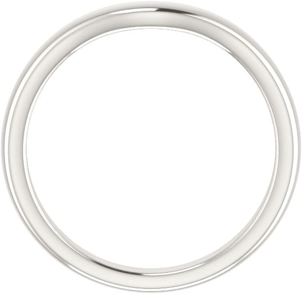 Size 7 Bonyak Jewelry Continuum Sterling Silver Band for 5.8 mm Round Ring