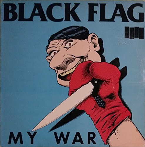 Original Rare 1990 Black Flag - My War Lp Red Translucent Vinyl SST - Flags Translucent