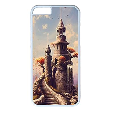 iPhone 6 Great for designing your own white case,PC material,white cover,Designed Specifically for iPhone 6 Compatible with Fantasy?Castles 23 from iCustomonline