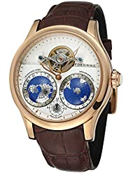 FORSINING Mens Brand Automatic Movement Stainless Steel Case World Map Dial Wrist Watch FSG9413M3R2