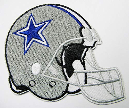 NFL Dallas Cowboys Helmet Embroidered Patch Iron ON 3 3/4