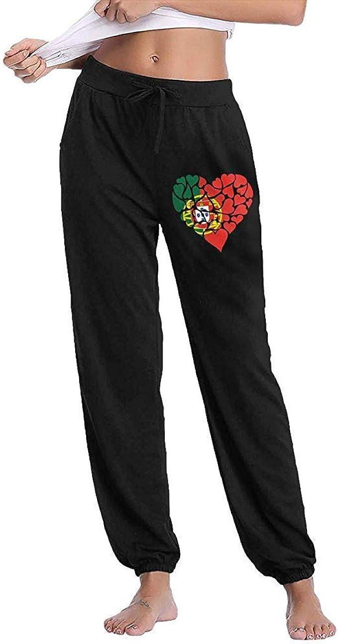 Bu-BY Pantalones de chándal Portugal Love Heart para Mujer ...