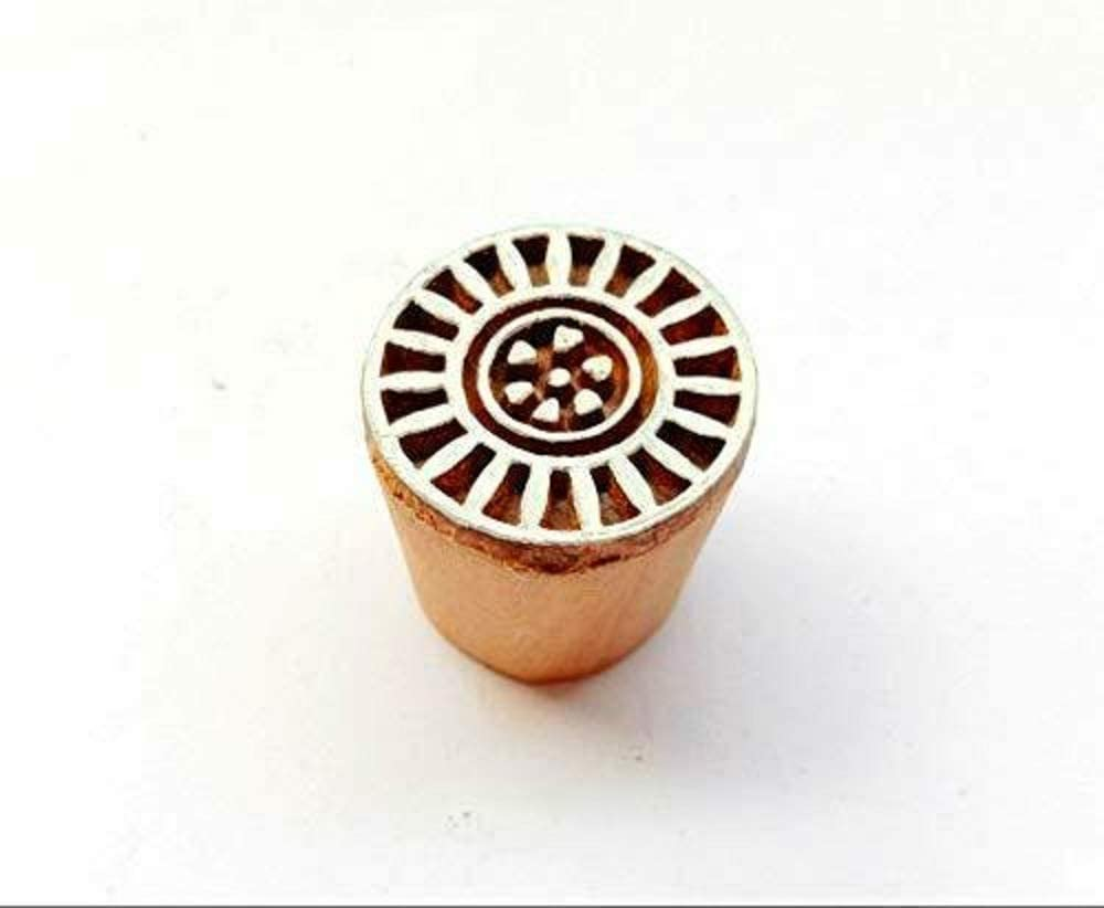 Floral Shape Wooden Printing Block Fabric Printing Block Textile Stamps