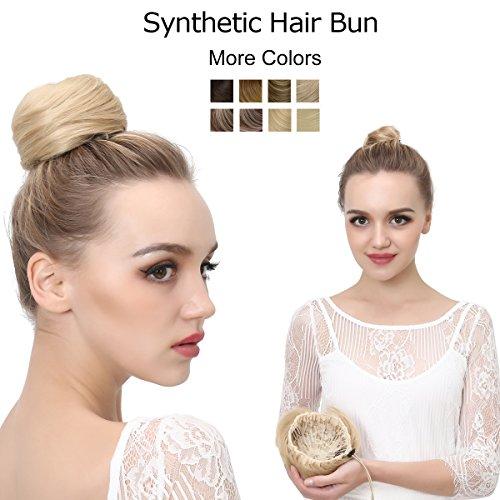 Peppers Scrunchie (SARLA Donut Chignon Bun Straight Updo Hair Bun Hairpiece Synthetic Scrunchie Hair Bun Extensions Q3 (1BH613))