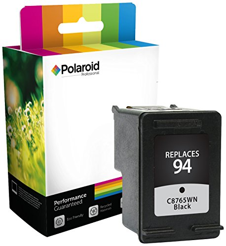 Polaroid Professional H-65WN-PRO Remanufactured Inkjet Cartridge Replacement for HP 94 (C8765WN), Black Ink