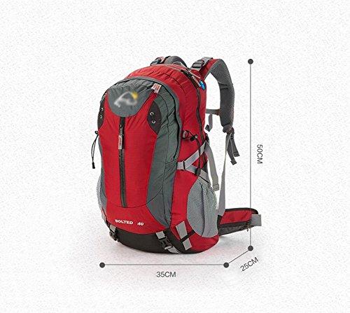 HWLXBB Outdoor Bergsteigen Paket Männer und Frauen 40L Wasserdichte Licht Mehrzweck Bergsteigen Tasche Wanderung Berg Bergsteigen Rucksack ( Farbe : 1* )