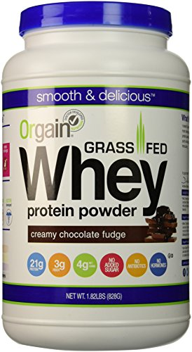 Grass Fed Whey Protein Powder, Orgain, 2 Flavors, 11 Ounce, (12 ct)