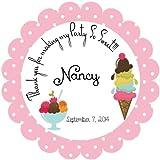 ice cream labels - 40 Round Labels 2
