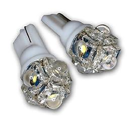 TuningPros LEDCK-T10-W5 Clock LED Light Bulbs T10 Wedge, 5 Flux LED White 2-pc Set